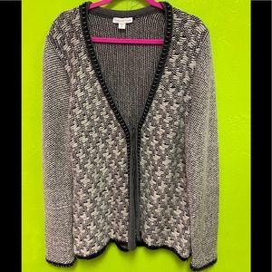 Coldwater Creek Cardigan Mohair Wool Gray XL 16